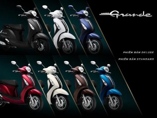 7 màu phong cách của Yamaha Grande.