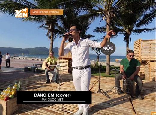 Mai Quốc Việt lịch lãm hát tình ca giữa biển Đà Nẵng