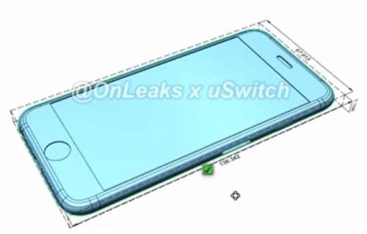 Những hình ảnh trích từ tài liệu kĩ thuật cho thấy iPhone 7 dày hơn iPhone 6.