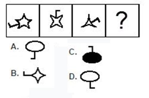 Câu 3: Theo bạn hình nào hợp với quy luật?