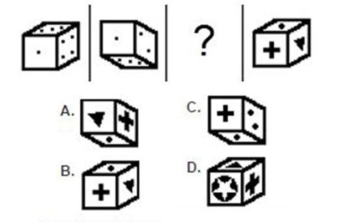 Câu 6: Hình hộp nào phù hợp nhất để đặt vào dấu chấm hỏi?