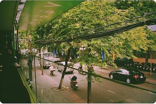 Những con đường phủ kín hai hàng me ở Sài Gòn dễ khiến người ta nao lòng. Chỉ cần chọn một quán nhỏ, không gian nhìn ra con đường xanh mướt như thế này, bạn cũng đã có thể cảm nhận được sự thanh thản trong tâm hồn. (Ảnh: IG duongthanh)
