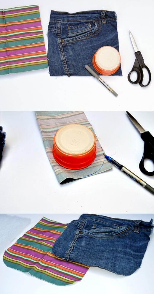 Biến quần jeans cũ thành túi đựng kính sành điệu trong nháy mắt