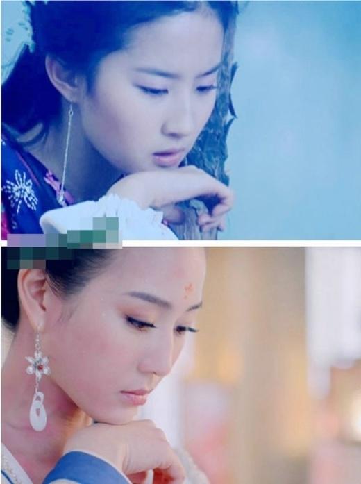 Triệu Linh Nhi (Lưu Diệc Phi) và Trương Quân Ninh trong vai Hiền Phi cùng suy tư, khí chất thanh tao.