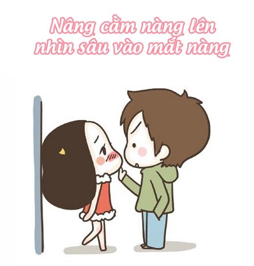 Cách 1: Dồn vào chân tường sau đó thổ lộ cho nàng biết tình cảm của bạn.