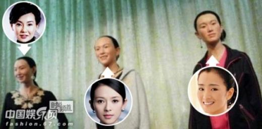 Những ngôi sao tỏa sáng ở Hollywood như Trương Mạn Ngọc, Chương Tử Di, Củng Lợi bị các nhà làm tượng Trung Quốc biến thành những bà cô hói đầu, trán cao bất thường và khuôn mặt gần giống hệt nhau.