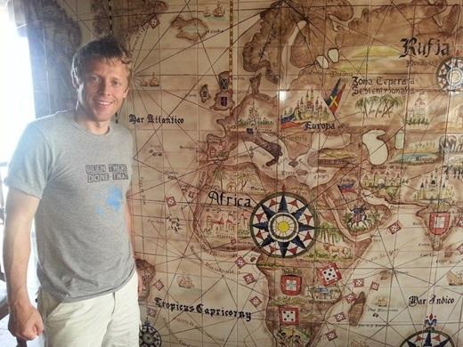 Tính đến nay, địa điểm cuối cùng mà anh ghé thăm làCape Verde – một đất nước thuộc quần đảo ngoài khơi xa tây bắc châu Phi.
