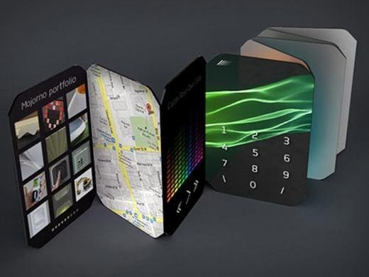 Trong khi đó, chiếc điện thoại này lại có rất nhiều màn hình dạng gập, mỗi màn hình thực hiện một chức năng khác nhau.