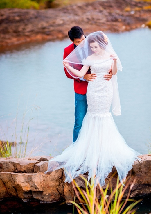 Ngắm bộ ảnh cưới hạnh phúc của chàng1m9 và nàng 1m5