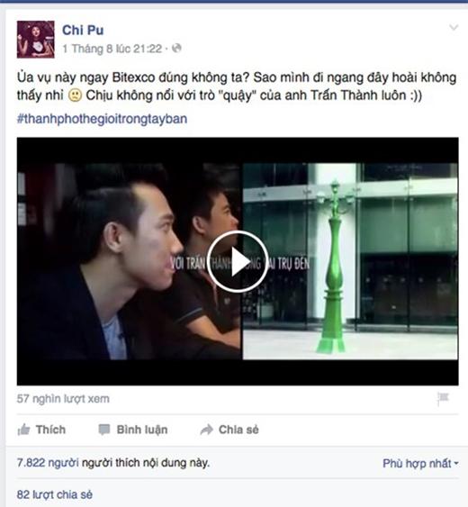 Một đoạn clip do Chi Pu chia sẻ thu hút hơn 57.000 lượt xem và gần 8.000 lượt thích
