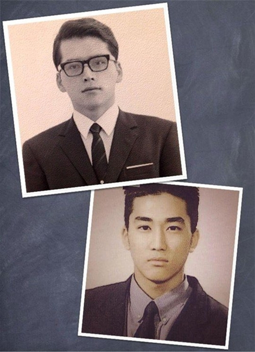 Vẻ đẹp vượt trội của bố Song Seung Hun khiến nhiều người phải trầm trồ.