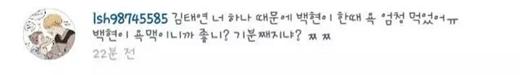 """""""Taeyeon có gì mà tốt nhỉ?"""", """"Đồ rác rưởi"""",""""Bởi vì cô mà Baekhyun bị ghét đấy. Cô cảm thấy thế nào? Có tốt không?"""""""