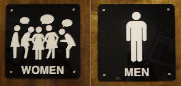 """Phụ nữ đi vệ sinh theo kiểu """"bầy đàn"""" để tám chuyện. Còn đàn ông thì vô giải quyết nhanh lẹ xong ra."""