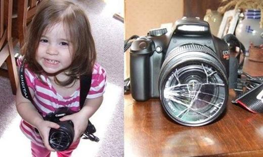 Và cũng đừng để chúng đụng vào máy ảnh của bạn nhé! Không thôi thì kết quả như thế này đây.