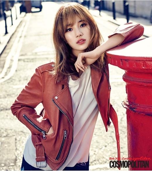 """Với gương mặt bầu bĩnh, đáng yêu cùng vóc dáng khá chuẩn Suzy dễ dàng chinh phục trái tim của hàng triệu fan nam, hoàn toàn xứng danh """"tình đầu quốc dân""""."""