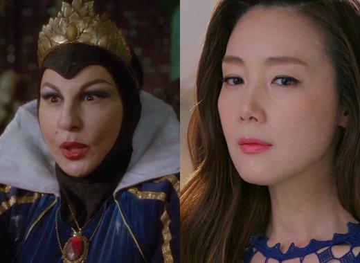 Sẽ không có ai vào vai mẹ ghẻ The Evil Queen hoàn hảo hơn nữ diễn viên Choi Ji Woo. Trong bộ phim Temptation, Choi Ji Woo đã xuất sắc khi thể hiện nội tâm xấu xa của nhân vật, luôn ganh tị với hạnh phúc của người khác và muốn nó là của mình. Điểm này rất giống với The Evil Queen, bà cũng cực kì ganh ghét nét đẹp của Bạch Tuyết và luôn tìm cách để hại nàng.