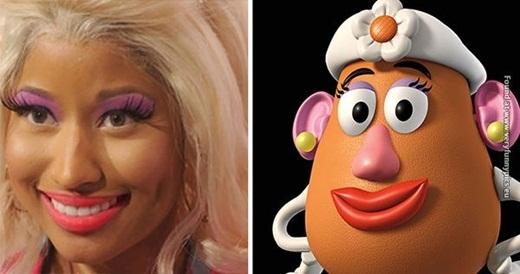 Trong khi đó, Nicky Minaj lại có vài điểm tương tự với Potato Head.