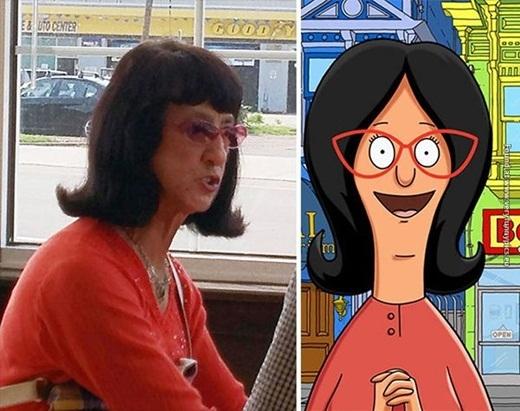 Theo bạn, nhân vật hoạt hình Linda Belchertrong phim Bob's Burgerscó giống người phụ nữ này không?