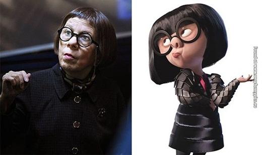 Diễn viên Linda Hunt lại trông như phiên bản đời thực của Edna trong phimThe Incredibles.