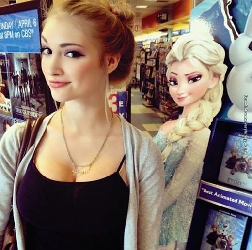Nhìn cô gái xinh đẹp này, ai cũng công nhận nữ hoàng Elsalà có thật ở ngoài đời.