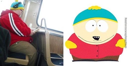 Ngay cả trên xe buýt bạn cũng có thể dễ dàng bắt gặp phiên bản đời thực của Cartman.