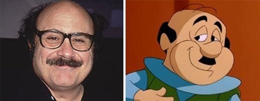 Đạo diễn, nhà sản xuất, diễn viên người Mỹ Danny Devito lại có những nét tương đồng với Mr.Spacely trong series phim hoạt hình The Jetsons.