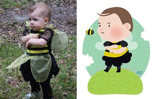 """""""Chàng ong nâu chuẩn bị bay đi đâu thế nhỉ?"""""""