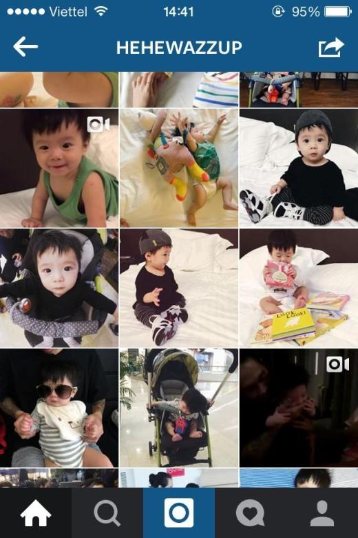 Trên trang Instagram của cậu nhóc thường xuyên được bố mẹ chia sẻ những hình ảnh và clip vô cùng dễ thương.