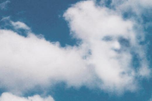 Một đám mây có hình mặt người.