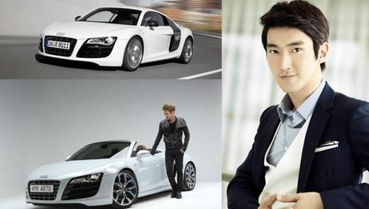 Anh chàng Siwon (Super Junior) lại rất chịu chơi khi chi gần 5 tỉ đồng cho chiếc xế hộp siêu sang Audi R8.