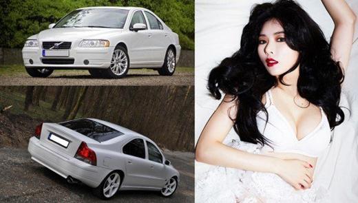 HyunA (4minute) với chiếc Volvo S60 giá khoảng 1,1 tỉ đồng.