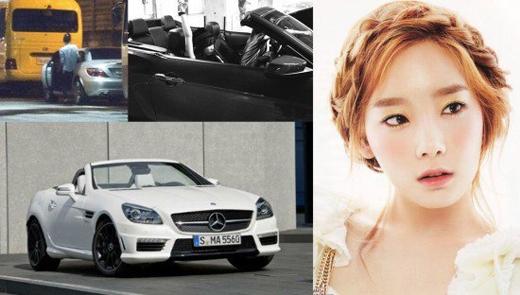 Taeyeon (SNSD)đã tậu chiếc Mercedes Benz SLK 55 AMG với giá khoảng 1,5 tỉ đồng.