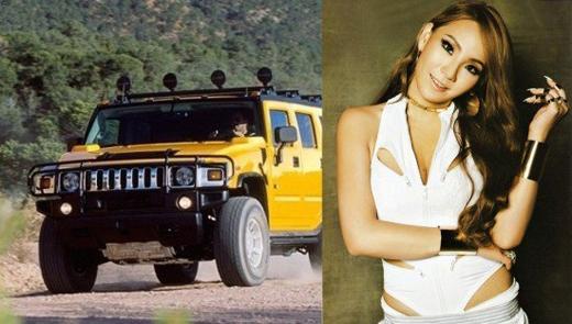 CL (2NE1)cũng sở hữu một chiếc xe cá tính không kém cô nàng là Hummer H2 trị giá 1,3 tỉ đồng.