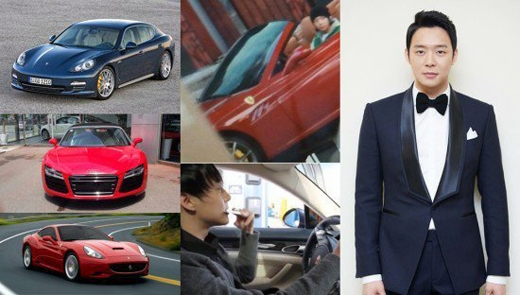 Yoochun (JYJ) khiêm tốn với 3 chiếc siêu xe: Audi R8 trị giá gần 5 tỉ đồng, Porsche Panamera khoảng 4 tỉ đồng và Ferrari California trị giá 8,3 tỉ đồng.