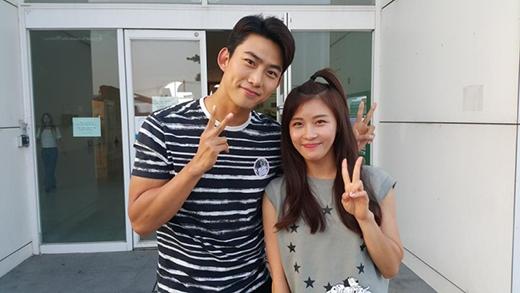 Taecyeon hạnh phúc khi gặp người tình trong mộng Ha Ji Won