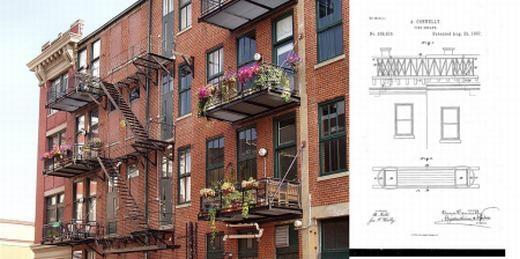 Cầu thang thoát hiểm là sáng chế cực kì quan trọng đối với cuộc sống của loài người và cũng khiến các ngôi nhà cao tầng mang tính thẩm mĩ hơn. Nó đã được phát minh vào năm 1887 bởi nhà khoa học nữ Anna Connelly.