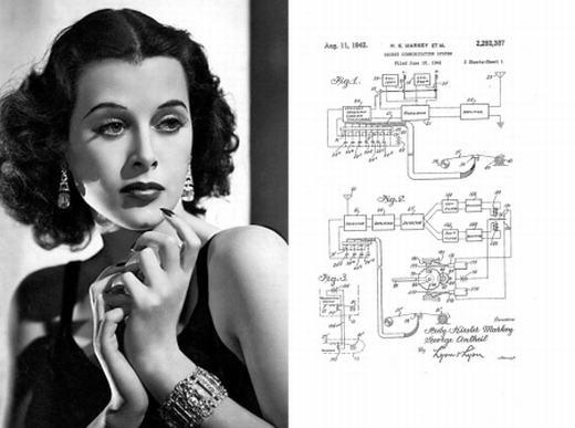 Bà Hedy Lamarr chính là tác giả của sáng chế về công nghệ đường truyền không dây. Đây là tiền đề cho sự phát triển của các công nghệ hiện đại ngày nay như GPS hay Wi-Fi.