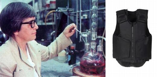 Nhà hoá học Stephanie Kwolek chính là người đã phát minh ra sợi Kevlar siêu bền vững được dùng trong áo chống đạn. Loại sợi này bền vững gấp 5 lần thép và được ứng dụng trong khoảng 200 sản phẩm khác nhau.
