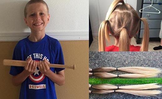 Christian McPhilamy trước và sau khi cắt tóc.