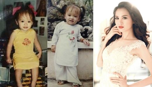 Hoa hậu Diễm Hương đã biết tạo dáng ngay từ khi còn nhỏ. - Tin sao Viet - Tin tuc sao Viet - Scandal sao Viet - Tin tuc cua Sao - Tin cua Sao