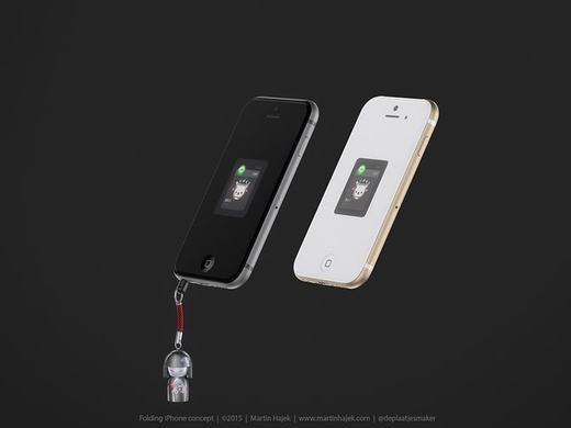 iPhone 7 nắp gập có thiết kế khá giống với iPhone 6 hiện tại, nhưng chỉ có hai màu chủ đạo là xám và vàng sâm-panh.