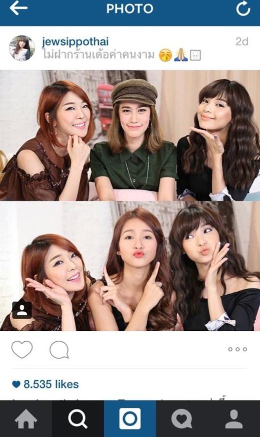 Khả Ngân cùng 2 nữ MC nổi tiếng của Thái Lan