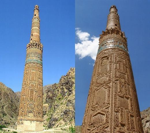 Tại Afghanistancó một ngọn tháp cực kì cổ kính nhưng không kém phần bí ẩn mang tên Minaret. Được tạo ra vào thế kỉ 12 hoặc 13 với nguyên liệu bằng gạch nung, ngọn tháp cao tới 64 mét này vẫn đang khiến giới khoa học đau đầu bởi họ chưa hiểu nó được xây dựng với mục đích gì và các hoa văn trên đó có ý nghĩa như thế nào.
