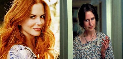 Nicole Kidman, ngôi sao quyến rũ của Australia và Far and Away đã hi sinh nhan sắc của mình cho vai diễn Virginia Woolf trong bộ phim The Hours năm 2002. Để nhập vai, Kidman đã phải đeo một chiếc mũi giả, diện trang phục xuề xòa cùng mái tóc giả màu nâu. Tạo hình này hoàn toàn khác xa với nét xinh đẹp thường ngày của cô.
