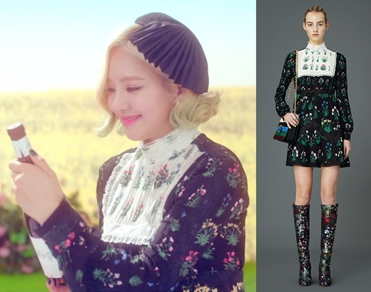 Chiếc đầm Valentino thanh lịch, đậm chất cổ điển của Hyoyeon có giá lên đến 7.900 đô la (tương đương 175 triệu đồng). Đây là trang phục đắt tiền nhất của các cô gái trong MV lần này.