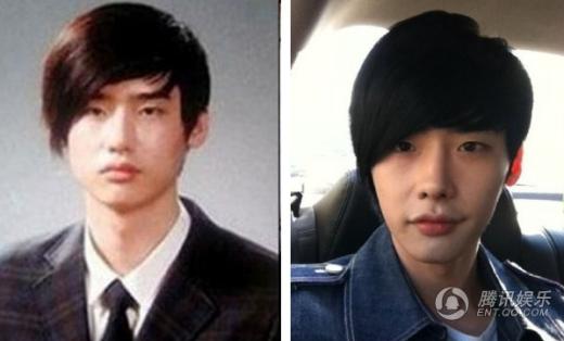 So với hình ảnh quá khứ, Lee Jong Suk có sống mũi cao thon hơn rất nhiều.