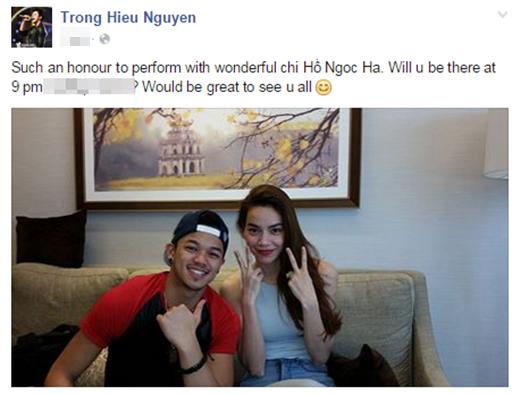 Trọng Hiếu trải lòng về cảm giác vinh dự khi được diễn chung chương trình với nữ ca sĩ hàng đầu Việt Nam. - Tin sao Viet - Tin tuc sao Viet - Scandal sao Viet - Tin tuc cua Sao - Tin cua Sao