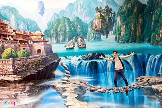 Hàng trăm bức tranh 3D khổng lồ cuốn hút giới trẻ Sài Gòn