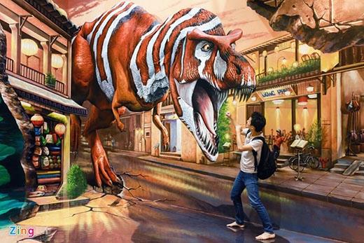 Thế giới khủng long được tái hiện sinh động.