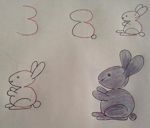 Vẽ mọi con vật cực đơn giản chỉ bằng những con số